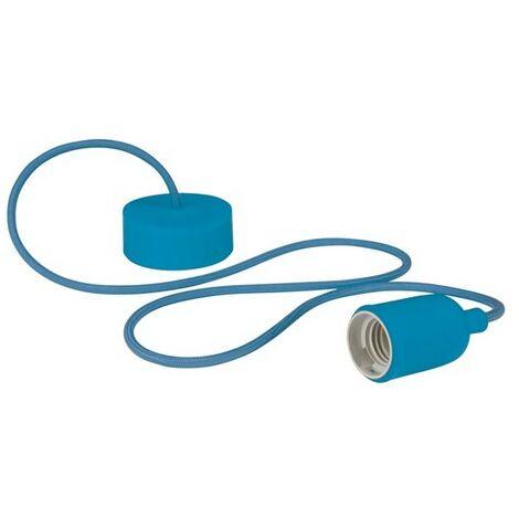 Luminaire Design À Suspension En Cordage - Bleu