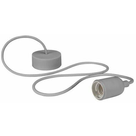Luminaire design à suspension en cordage - gris