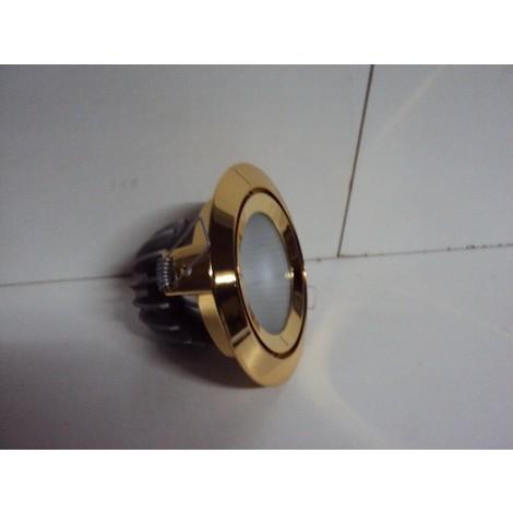 Luminaire encastré laiton diam 120mm pour caps halogene GY6.35 max 90W ERYMANTHE TRAJECTOIRE 112132