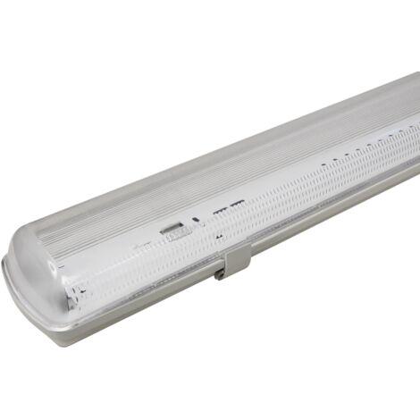 Luminaire étanche 120cm pour 2 tubes LED, IP65