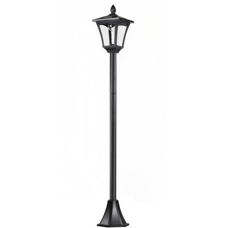 Luminaire extérieur solaire lampadaire lanterne classique LED 40 Lm dim. 18L x 18l x 160H cm noir