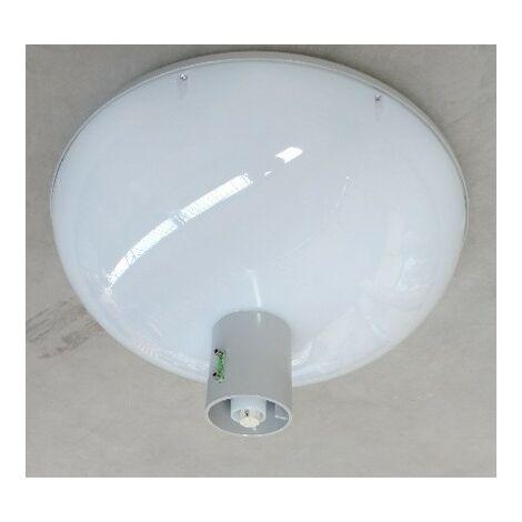 Luminaire LED 37W Ø 570mm gris 3000K 6000lm 230V dimmable DDF2 pour mat Ø 48-76mm diff dépoli IK10 IP66 TOWNGUIDE BDP101 PHILIPS