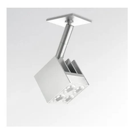 Luminaire LED 8W architectural sur pied tête cube 37X37mm orientable 2X14° 3000K 468lm alim 230V semi-encastré ARTEMIDE M028904