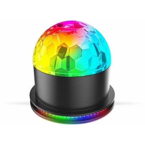 Luminaire LED d'ambiance avec capteur de musique et changement de couleurs éclairage de fête boule disco ambiance boîte de nuit lampe de table multi couleurs