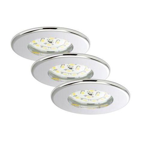 Luminaire LED encastrable pour salle de bain, lot de 3 A945591