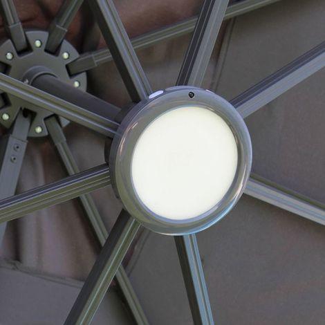 Luminaire LED pour parasol déporté (hors fibre de verre)