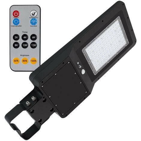 Luminaire LED Solaire 32W avec Détecteur de Présence et Crépusculaire Blanc Froid 5000K - Blanc Froid 5000K