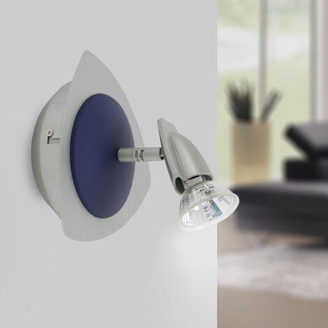 Luminaire Patère Applique murale argent 1 Spot orientable et inclinable 50W