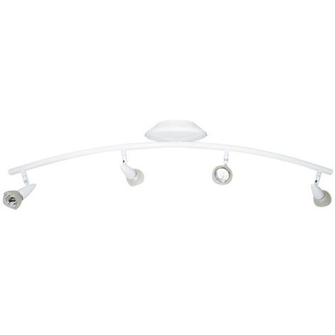 Luminaire Plafonnier Rampe de plafond blanche 4 Spots orientables 4 x 35 W GU 5.3