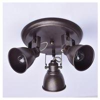 Luminaire plafonnier retro 3 spots métal vieilli Pangaré