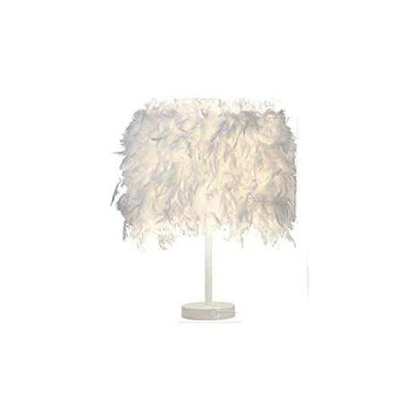 Lite Maison et plumes Blanc Lampe de table lampe de chevet Lampe de table Chambre Salon