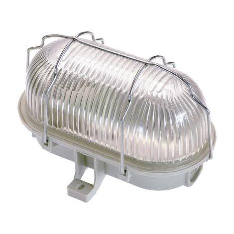 Luminaire pour pièces humides 60 W 1x E27 as - Schwabe 56200 gris clair 1 pc(s)