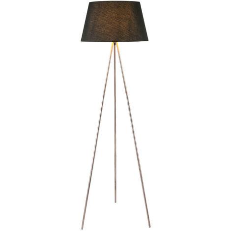 Luminaire salon chambre d'amis éclairage cuivre projecteur textile lampe couloir noir Globo 24684c