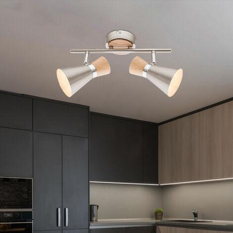 Luminaire salon spots réglables éclairage cuisine projecteurs bois couloir dans l'ensemble LED
