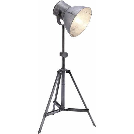 Luminaire sur pied vintage avec spot réglable pour trépied réglable en hauteur, ampoules à LED comprises