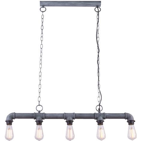 Luminaire suspendu de plafond de style industriel design lampe suspendue rétro optique de ciment gris Globo 43001H