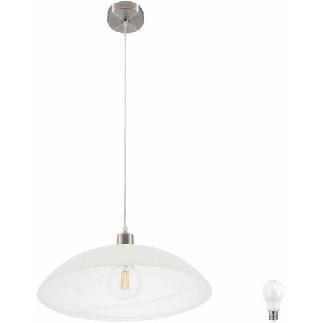 Luminaire suspendu Pendulum Spots Lampe Salon Cuisine Éclairage Plafond verre dans l'ensemble LED