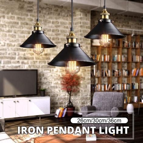 Luminaire suspendu suspendu de style loft industriel rétro de 260 mm