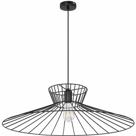 Luminaire suspendu vintage intelligent, dimmable, lampe, cage, pendule, contrôlable via une application, langue du téléphone portable dans un ensemble, y compris les ampoules LED RVB