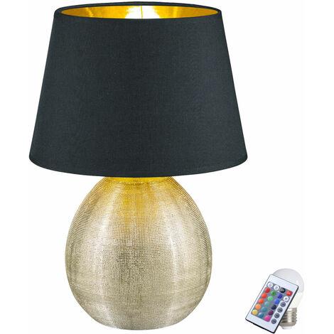 Luminaire table éclairage couleur chambre d'amis or Lampadaire textile noir dans l'ensemble LED RGB