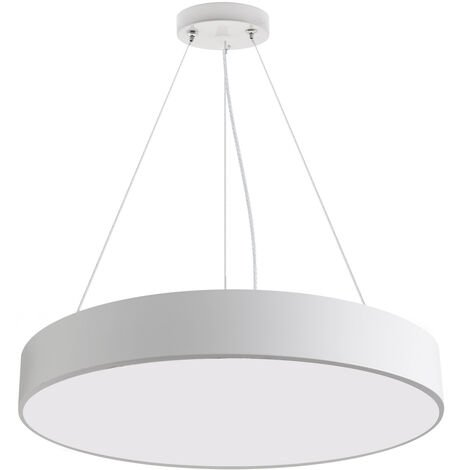 Luminaria colgante o superficie PUCK, Ø600mm, 50W, blanco