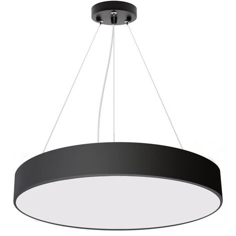 Luminaria colgante o superficie PUCK, Ø600mm, 50W, negro