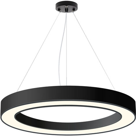 Luminaria colgante o superficie PULL, Ø1000mm, 90W, negro, Blanco neutro