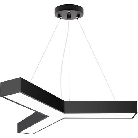 Luminaria colgante o superficie TRILED, Ø900mm, 40W, negro, Blanco neutro