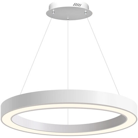 Luminaria colgante RING, Ø800-6575mm, 40W, blanco, Blanco neutro