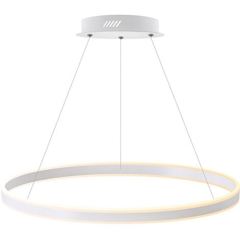 Luminaria colgante RING UP 100W, Ø800mm, CCT regulable, Blanco dual, regulable