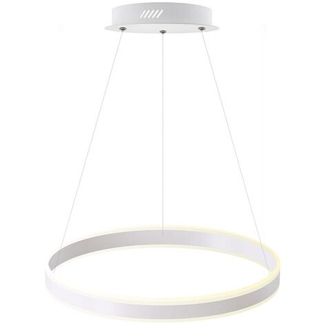 Luminaria colgante RING UP 50W, Ø400mm, CCT regulable, Blanco dual, regulable