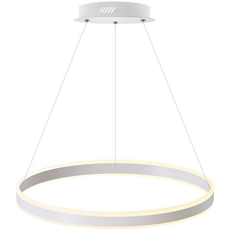 Luminaria colgante RING UP 76W, Ø600mm, CCT regulable, Blanco dual, regulable