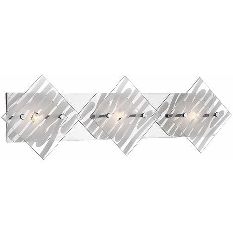 Luminaria de pared aplique de cromo salón decoración lámpara de cristal Globo 48694-3