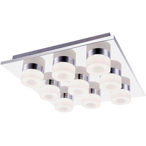 Luminaria de techo de lujo LED Lámpara de techo Habitación de huéspedes Proyector Cromo Luminaria Globo 42504-9