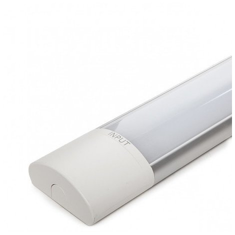 Luminaria LED Lineal Superfice 600Mm 20W 120Lm/W 30.000H Funciones Emergencia | Blanco Natural (SL-L3L-CDT144L20-120-E-W)