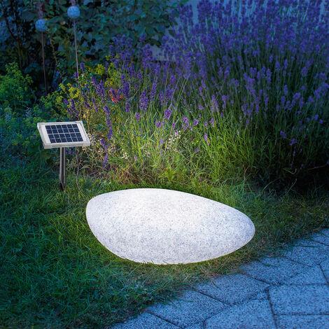 Luminaria solar de piedra decorativa esotec 106066