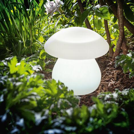 Luminaria solar decorativa de seta con LEDs de 8 colores de luz para jardín esotec 106103