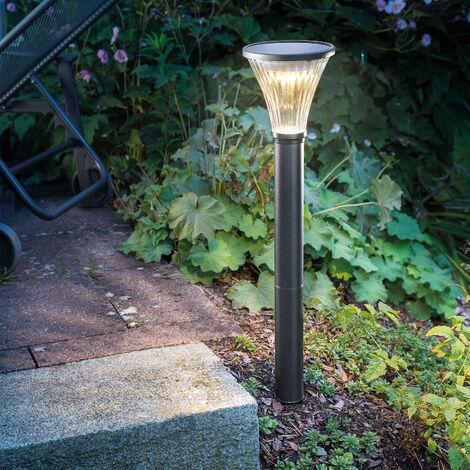 Luminaria solar para caminos Salerno con luz blanca fría+luminaria solar para jardín con luz blanca cálida esotec 102528