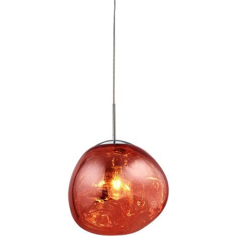 Lumineca Lampe Suspension Rouge Thelio - 50231021670606