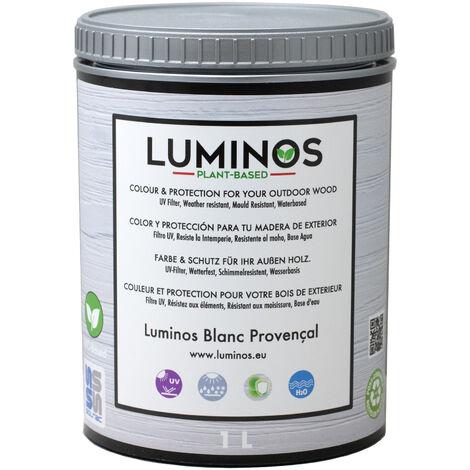 Luminos LUM1100 BLANC PROVENÇAL - Lasur al agua Protector Madera Exterior. Color Blanco Provenza - 1L