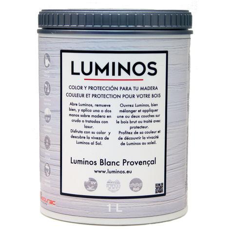 Luminos LUM1100 Lasur Protector Madera, Blanco Provenza - 1L