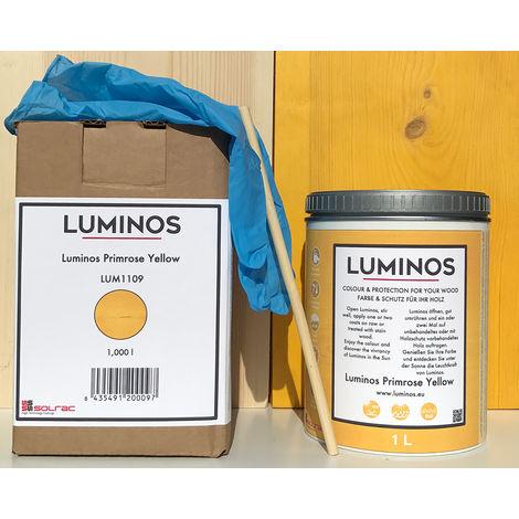 Luminos LUM1109 - PRIMROSE YELLOW Lasur alAgua Protector Madera Color Amarillo Primrose. 1L