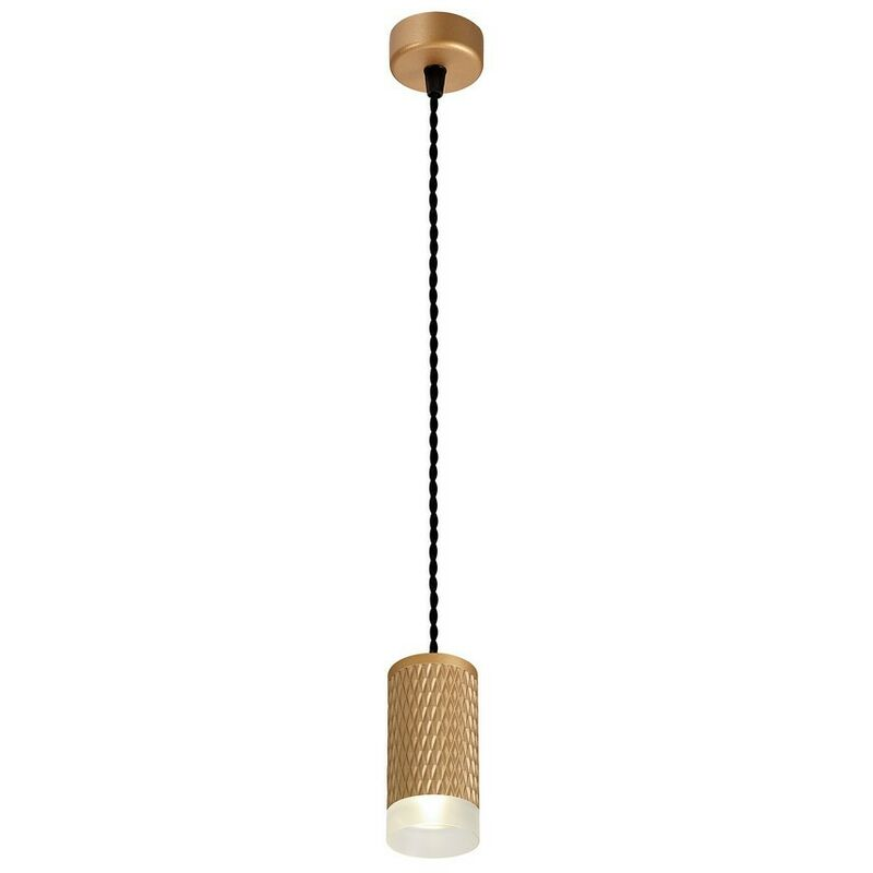 Image of 1 Light 11cm Ceiling Pendant Light GU10, Champagne Gold, Acrylic Ring - Luminosa Lighting