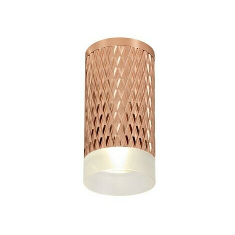 Luminosa Lighting - 1 Light 11cm Surface Mounted Ceiling GU10, Rose Gold, Acrylic Ring