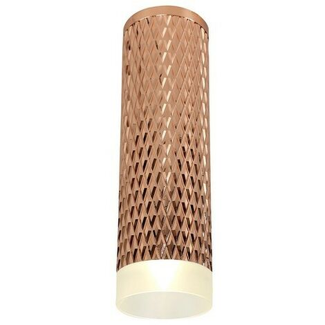 Luminosa Lighting - 1 Light 20cm Surface Mounted Ceiling GU10, Rose Gold, Acrylic Ring