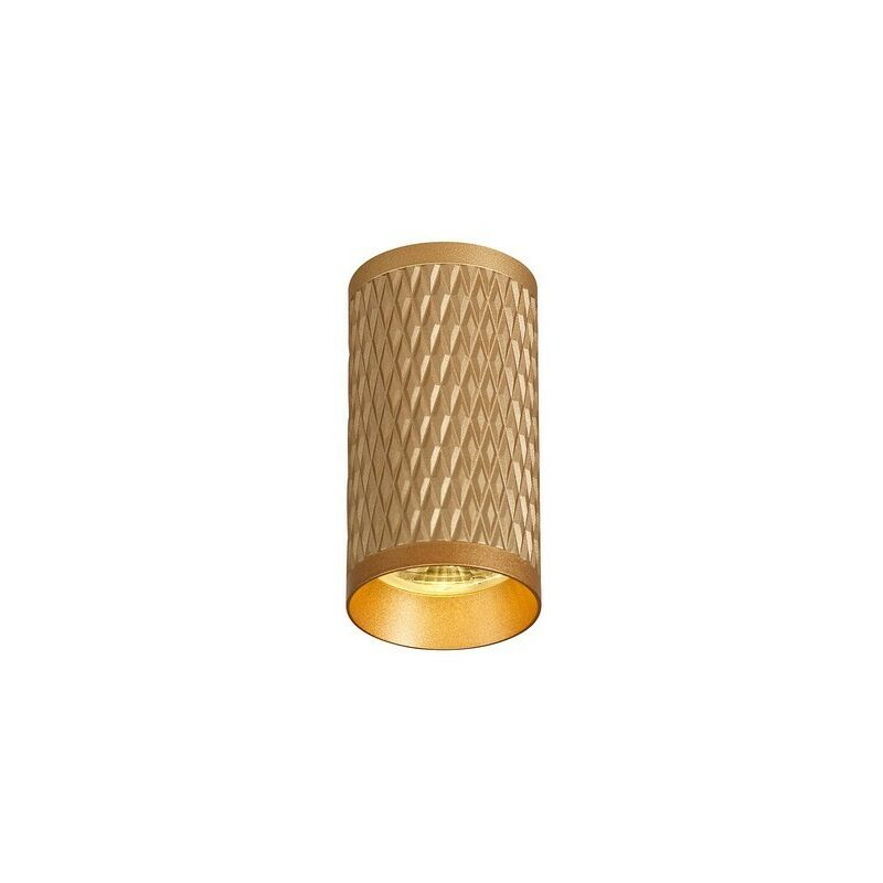 Image of 11cm Surface Mounted Ceiling Light, 1 x GU10, Champagne Gold - Luminosa Lighting
