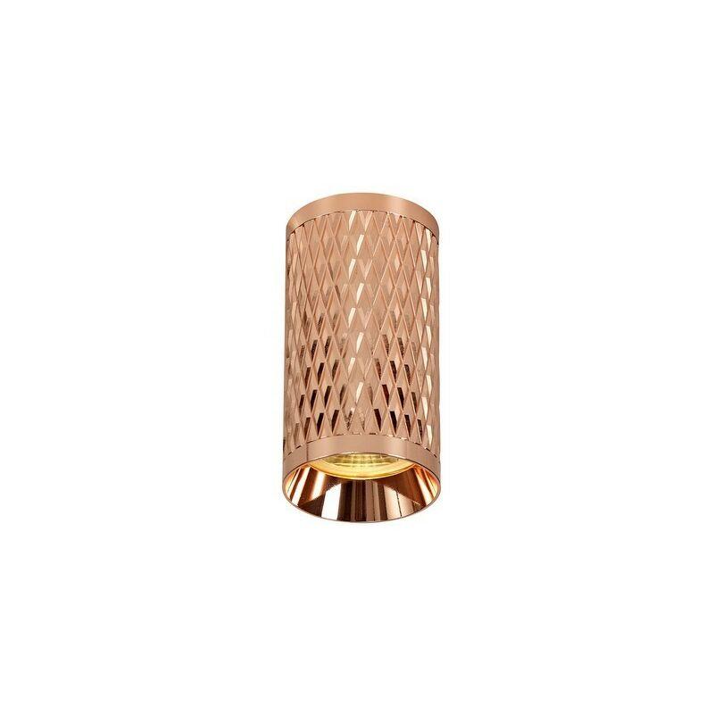 Image of 11cm Surface Mounted Ceiling Light, 1 x GU10, Rose Gold - Luminosa Lighting