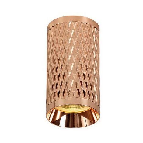 Luminosa Lighting - 11cm Surface Mounted Ceiling Light, 1 x GU10, Rose Gold