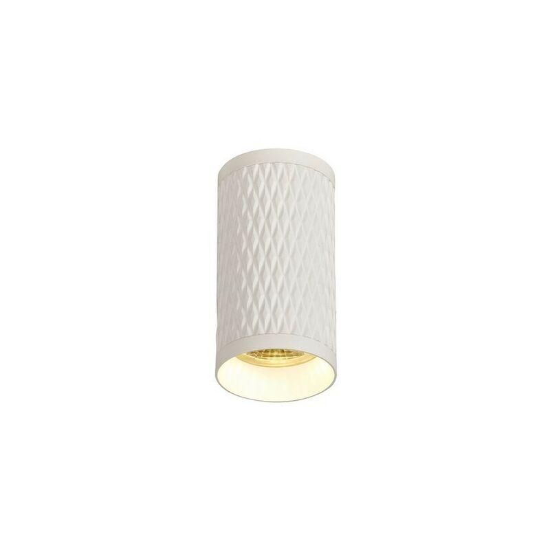 Image of 11cm Surface Mounted Ceiling Light, 1 x GU10, Sand White - Luminosa Lighting