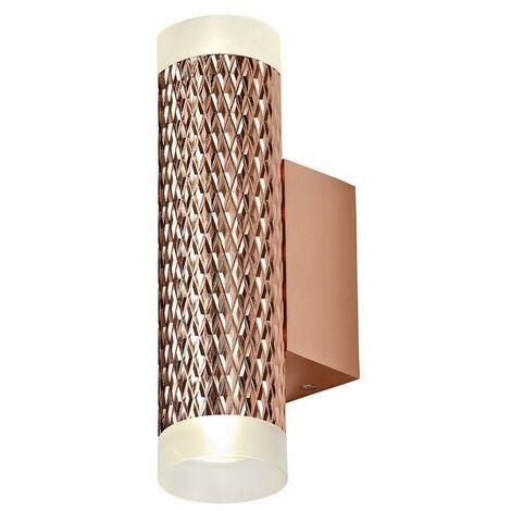 Luminosa Lighting - 2 Light Wall Lamp GU10, Rose Gold, Acrylic Rings